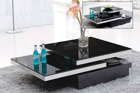 black glass coffee table. Black Glass Swivel Coffee Table BM390 | Contemporary O