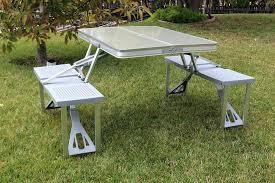 aluminum picnic tables. Portable Folding Picnic Table Time Aluminum And Seats Tables