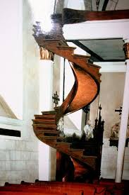 scale model simulation of how the staircase looked between 1877 1887 before the banisters were added