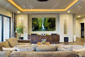 Home Entertainment Room And Living Room In Luxury Home Lizenzfreie