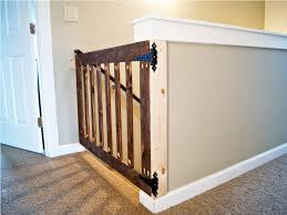baby gate for top of stairs with railing  retractable baby gates