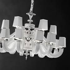 large high end white leather swarovski crystal chandelier