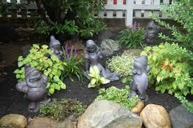 garden figures. Sculpture Made Of The Seven Dwarfs Stones Garden Figures