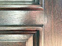 how to restain a door without removing