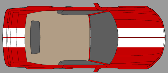 ford mustang top view. click image for larger version name: stripes top view.jpg views: 2534 size ford mustang view t