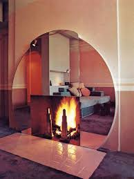 round mirror mantle and deco skyser fireplace grate drydock