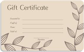 Gift Voucher Template Leaf Branches Art Gift Certificate Template