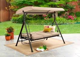 3 person outdoor swing with canopy mainstay seat porch patio 3 person outdoor swing with canopy