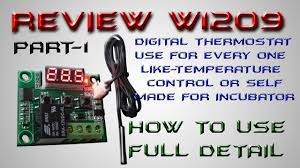 W1209 Digital Thermostat Temperature Control Circuit Switch W1209 Manual Setting Part 1 In Hindi