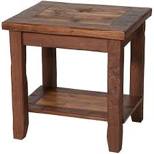 Rustic End Tables  Make From Pallets For Display Of Head With Books U0026 One Porch