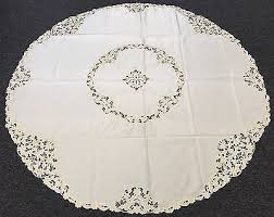 beige ivory 90 round fabric embroidered fl embroidery tablecloth 12 napkins