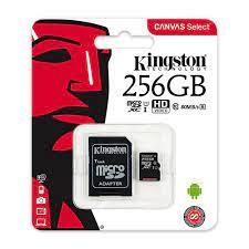 Thẻ Nhớ MicroSDXC Kingston Canvas Select 256GB Class 10 U1 80MB/s SDCS/256GB  (Kèm Adapter) | Memoryzone - Professional in memory