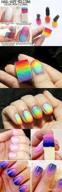 $1.29 3pcs Gradient Nails Soft Sponges for Color Fade Manicure ...