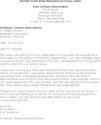 Medical Receptionist Cover Letter Receptionist Cover Letter Resume Receptionist Cover Letter Sample