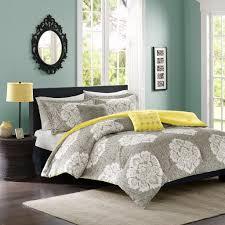 yellow queen bedding.  Yellow Amazoncom Intelligent Design Tanya FullQueen Size Bed Comforter Set   Grey Yellow Damask U2013 5 Pieces Bedding Sets Ultra Soft Microfiber Bedroom  With Yellow Queen N