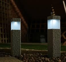 garden lamps. Delighful Garden Square Stone Solar Post Lamps For Garden S
