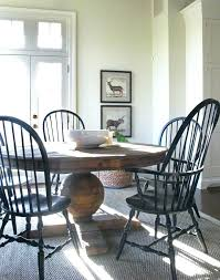 black chairs with distressed pedestal table for eat in used windsor south africa