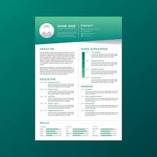 curriculum template corporate resume template vector download free vector art stock