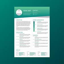 curriculum template corporate resume template vector download free vector art stock