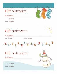 Microsoft Word Gift Certificate Templates Holiday Gift Certificate Template Template For Word 2013 Or