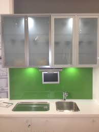image of kitchen cabinets with glass doors frosted