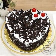 Order Black Forest Cake 1 Kg Heart Shape Online Indiacakes