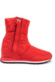Y-3 + Adidas Originals Rhita Leather-Trimmed Quilted Shell Boots ... & Y-3 + Adidas Originals Rhita Leather-Trimmed Quilted Shell Boots. #y Adamdwight.com