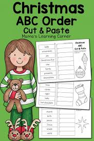 Christmas ABC Order Worksheets: Cut and Paste! - Mamas Learning Corner