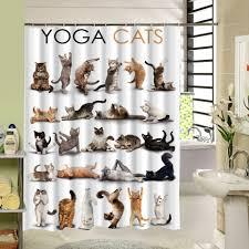 Heißer Design Katze Cartoon Duschvorhang Badezimmer Wasserdicht