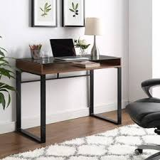 office glass desk. 42-inch Modern Glass Top Writing Desk Office
