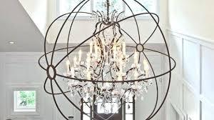 large orb chandelier elegant charming metal world market at extra black