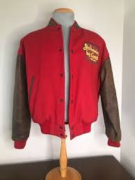 details about johnny walker johnny be good varsity jacket with leather sleeves canada made