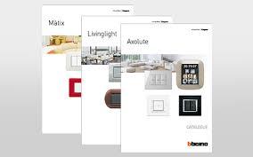 bticino international axolute livinglight and màtix catalogues update
