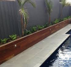 wood landscaping walls