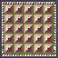 Doll & Baby Log Cabin Quilt Patterns - Victorian Era & Log Cabin quilt with sawtooth border Adamdwight.com