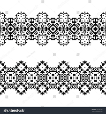 navajo bead designs. Set Of 2 Seamless Borders In American Indian Style. Embroidery Dotted Schemes. Pixel Navajo Bead Designs O