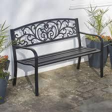 garden benches metal. Brilliant Benches Garden Life Henley Metal Bench To Benches