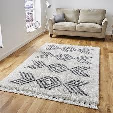 boho rugs 8886 cream grey