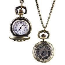 vintage retro bronze quartz pocket watch pendant chain necklace watches flower crown hour clock y5 mechanical watches unique watches from naughtie