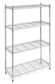 impressive chrome shelving units blackchrome commercial 4 tier shelf adjulesteel wire metal