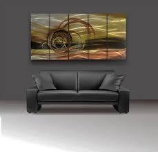 modern brown wall art metal design