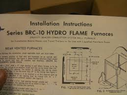 hydroflame brc 10 furnace fiberglass rv but i did a picture of the installation manual the op useful lot 14 parts for a hydro flame furnace series brc 10