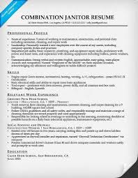 Janitor Resume Inspiration Janitorial Resume Pelosleclaire