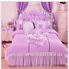blue bedroom sets for girls. Purple/Pink/Blue Korean Lace Princess Bedding Set Cotton 3/4pcs For Girls Twin Full Queen Size Ruffle Bed Skirt Free Shipping-in Sets From Home Blue Bedroom D