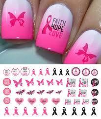 Amazon.com : Breast Cancer Awareness Set 3 Nail Art Decals : Beauty