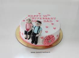 Love Wedding Anniversary Theme Small Handcrafted 3d Cake For