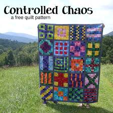 Scrap Quilt Patterns Enchanting Controlled Chaos A Free Scrap Quilt Pattern Shiny Happy World
