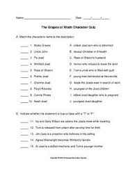 the best grapes of wrath ideas the grapes  the grapes of wrath character quiz answer key