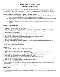 animal farm study guide answer key  animal farm by george orwell summer reading project