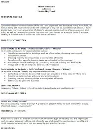 Cv Cleaner Cleaning Cv Example Lettercv Com